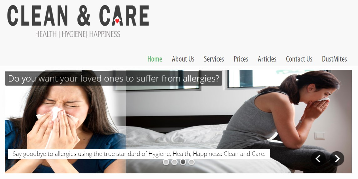 Clean & Care's Homepage