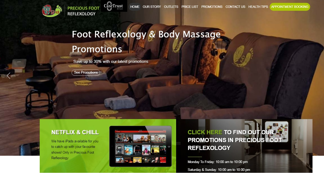 Precious Foot Reflexology & Massage's Homepage