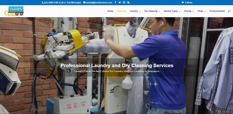 Laundry Cares' Website