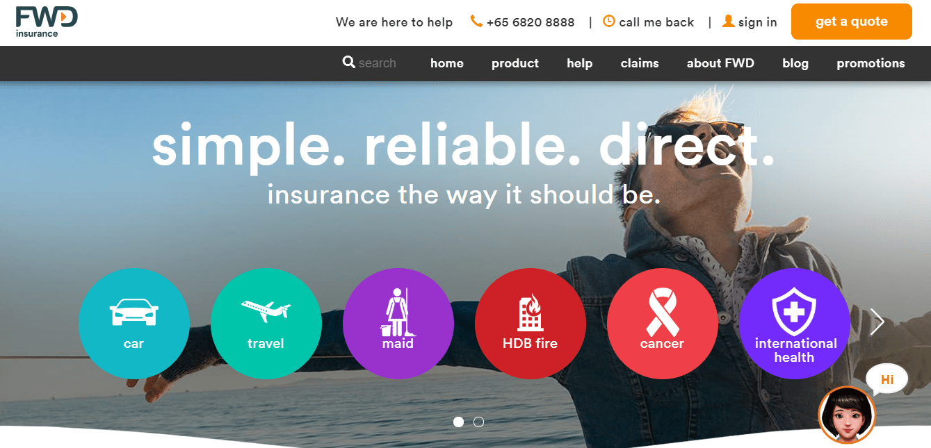 FWD Insurance's Homepage