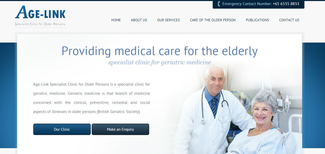 Age-Link Specialist Clinic's Homepage