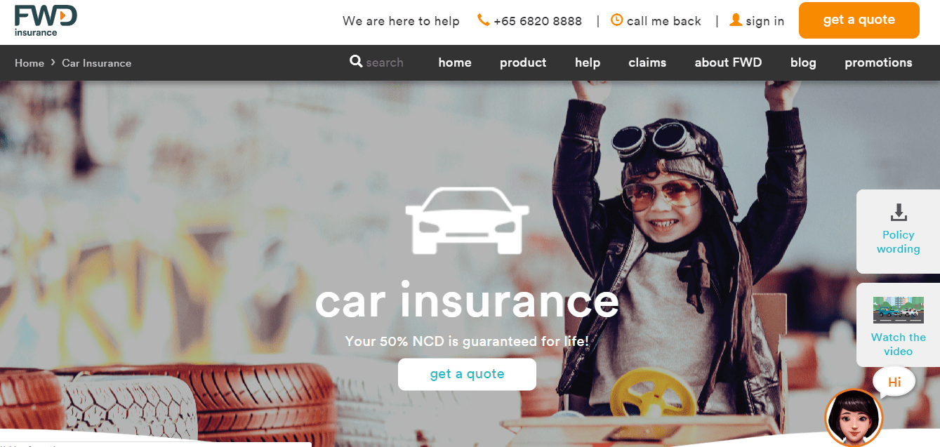 FWD Car Insurance's Homepage