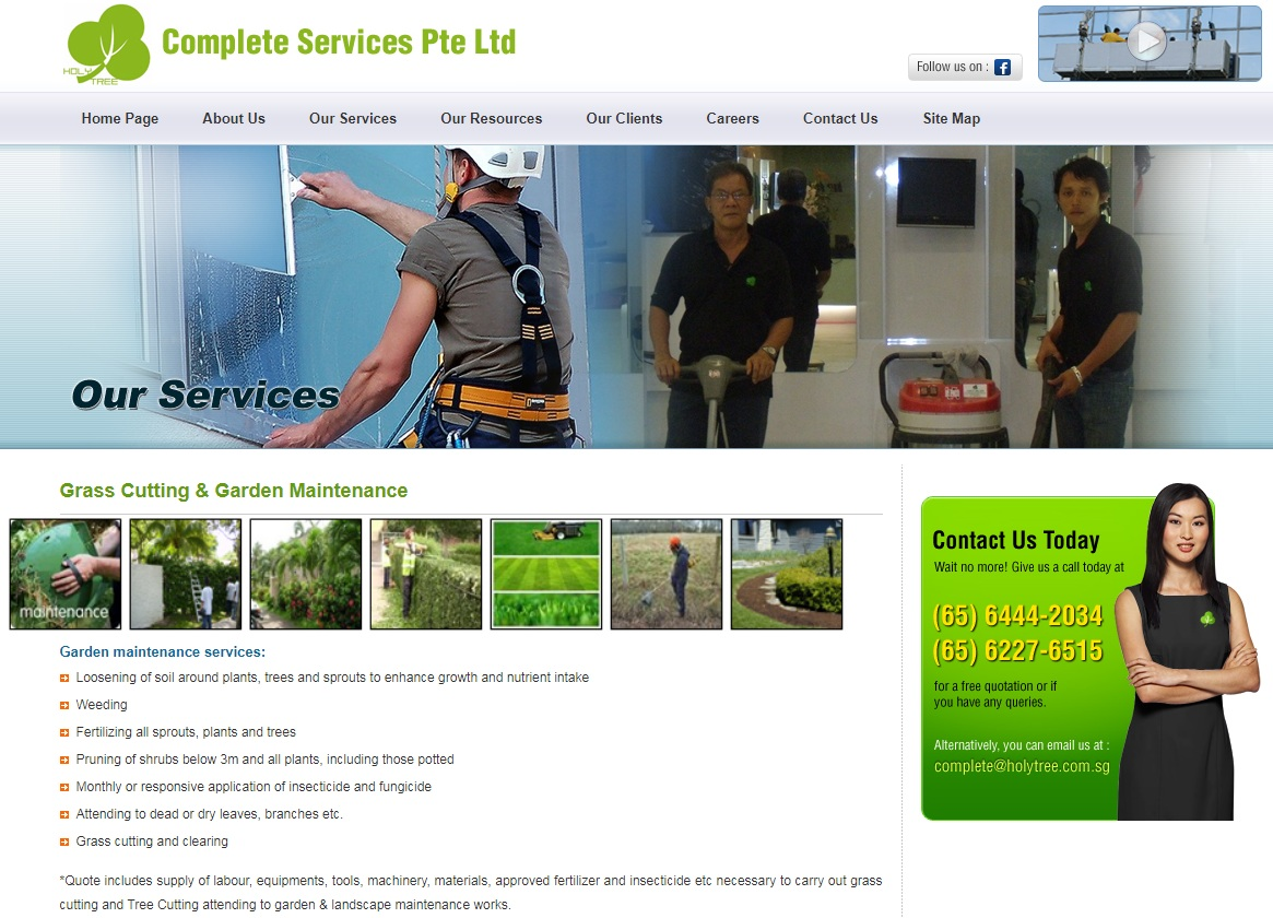 Complete Services' Homepage
