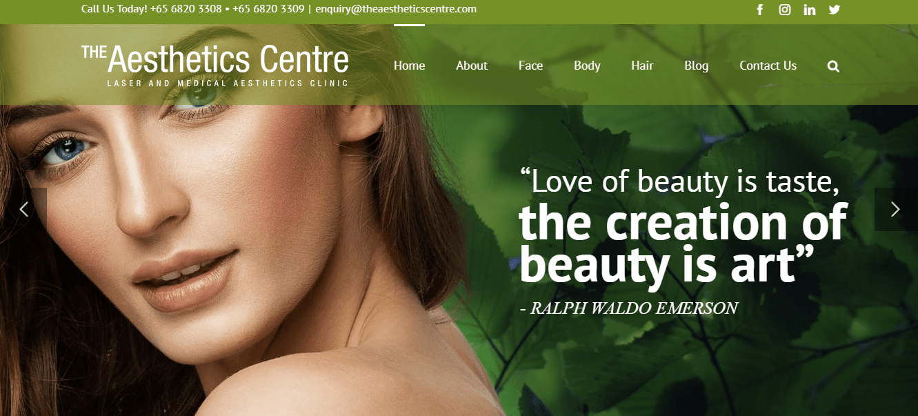 The Aesthetic Centre's Homepage