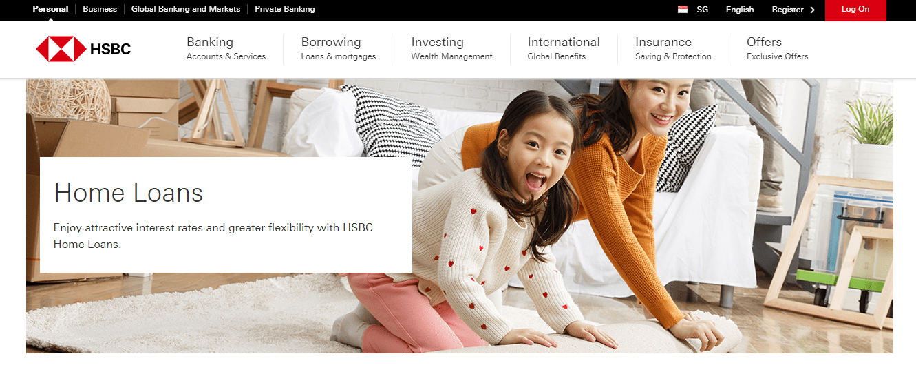 HSBC Home Loans' Page