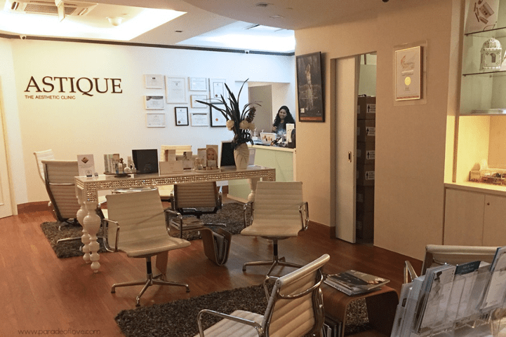 Astique The Aesthetic Clinic's Front Desk