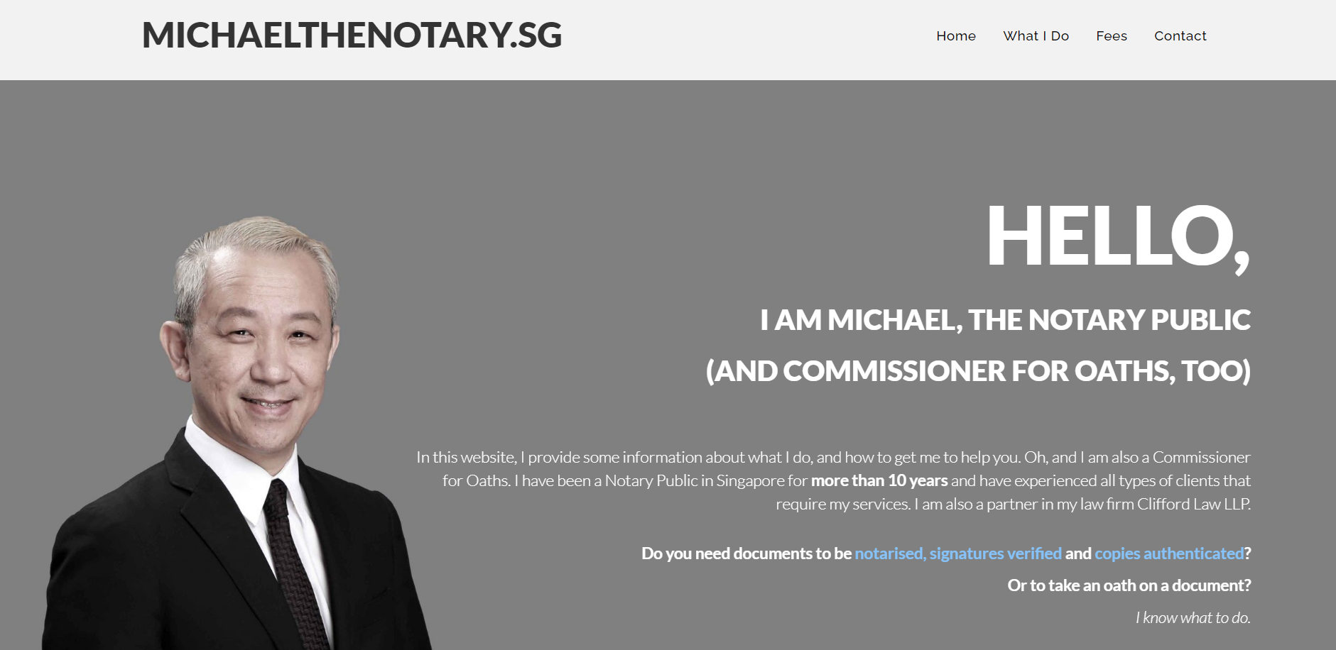Michael, The Notary (Clifford Law)'s Homepage