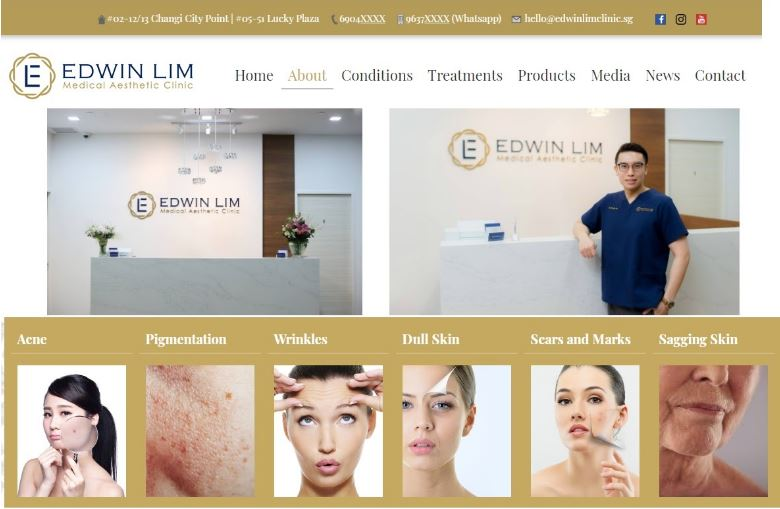 Edwin Lim Medical Aesthetic Clinic's Homepage
