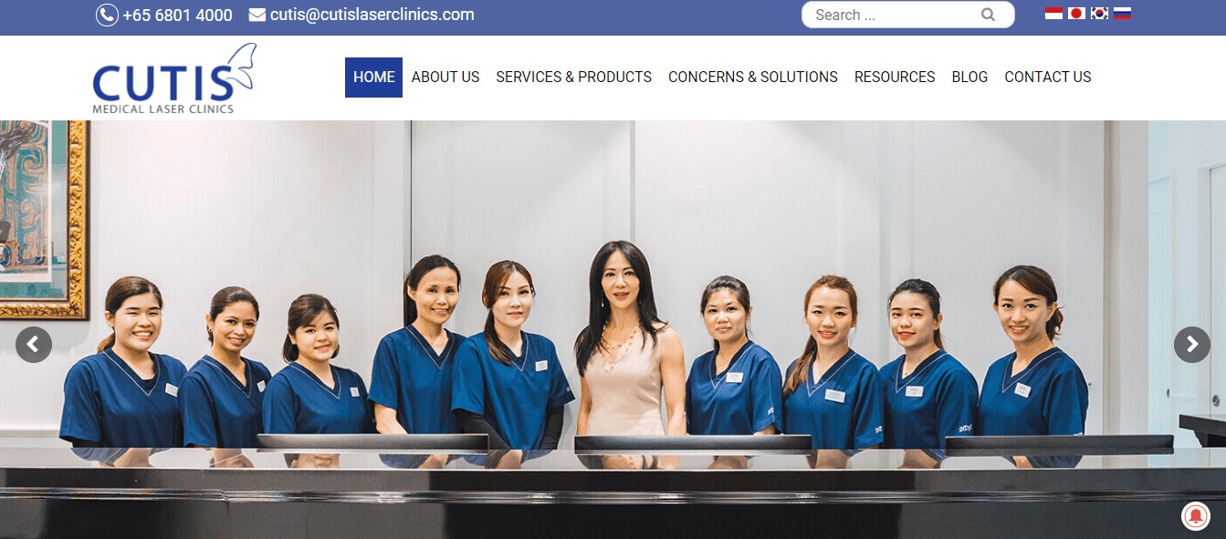 Cutis Medical Laser Clinic's Homepage