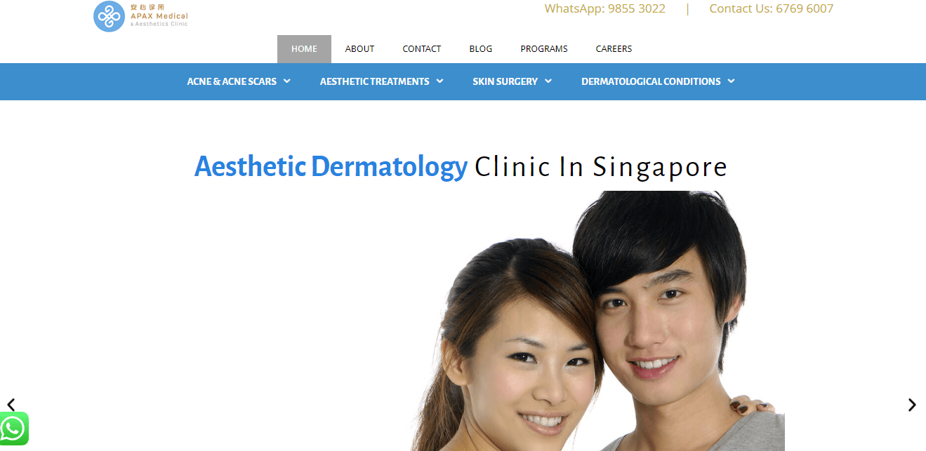 APAX Medical and Aesthetic Clinic's Homepage