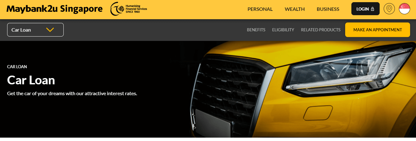 Maybank's Homepage