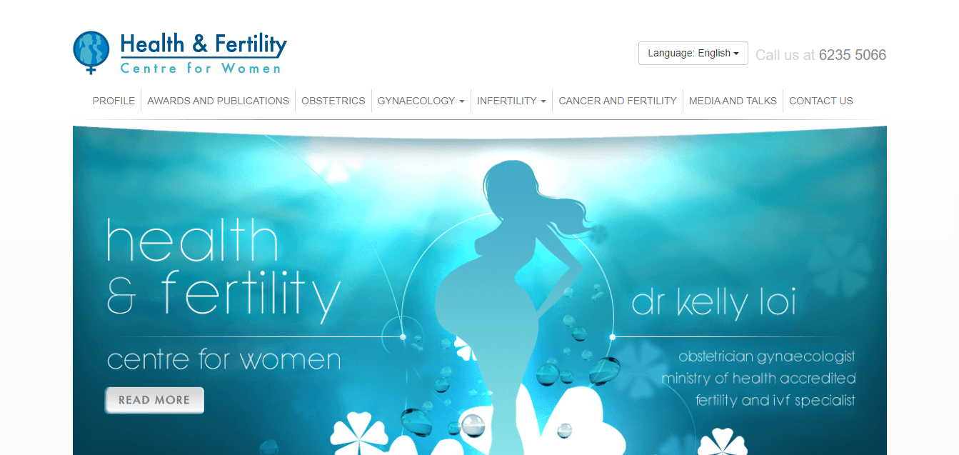 Health & Fertility Centre for Women's Homepage