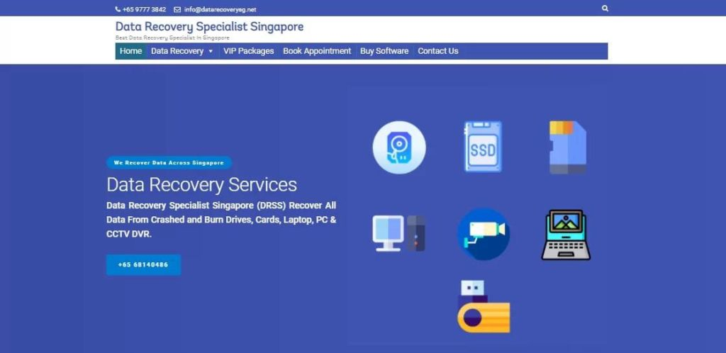 Data Recovery Specialist Singapore's Homepage