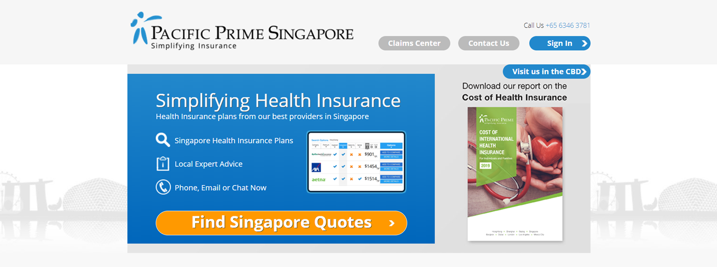 Pacific Prime Singapore's Homepage