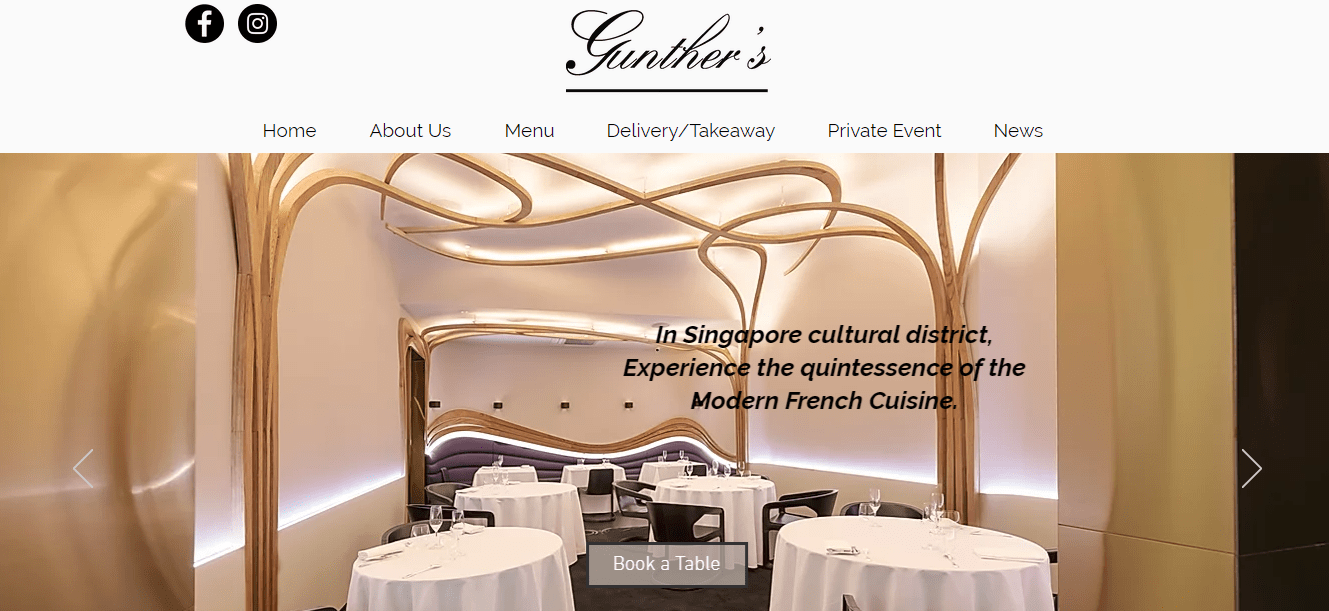 Gunther's Modern French Cuisine's Homepage