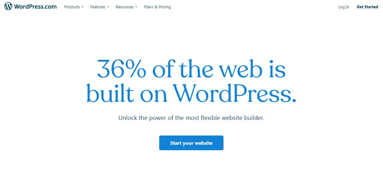 Wordpress' Homepage