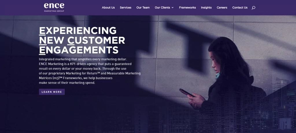 Ence Marketing Group's Homepage