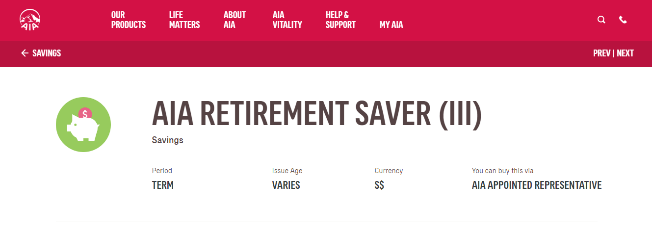 AIA Insurance's Homepage