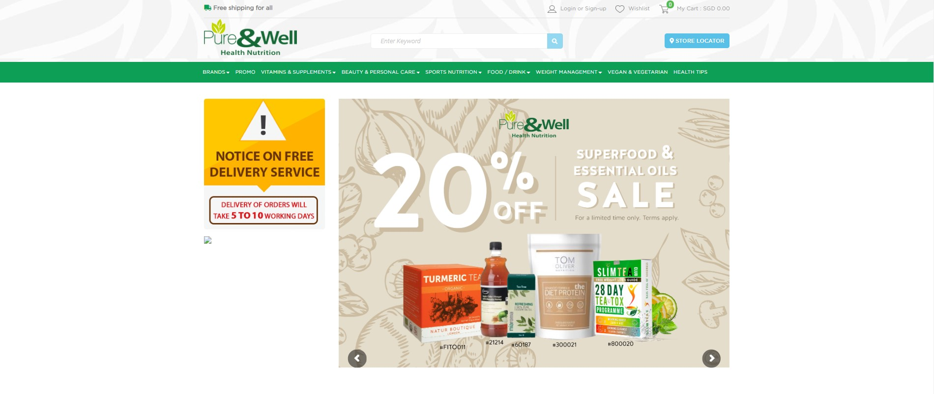 Pure & Well Health Nutrition's Homepage
