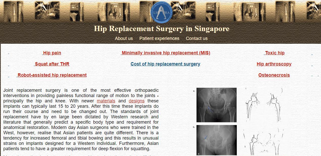 Singapore Orthopaedic Clinic's Homepage