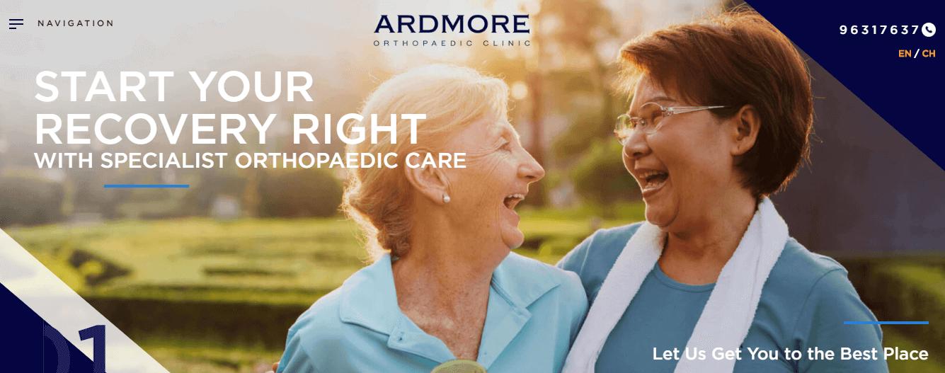 Ardmore Orthopaedic Clinic's Homepage