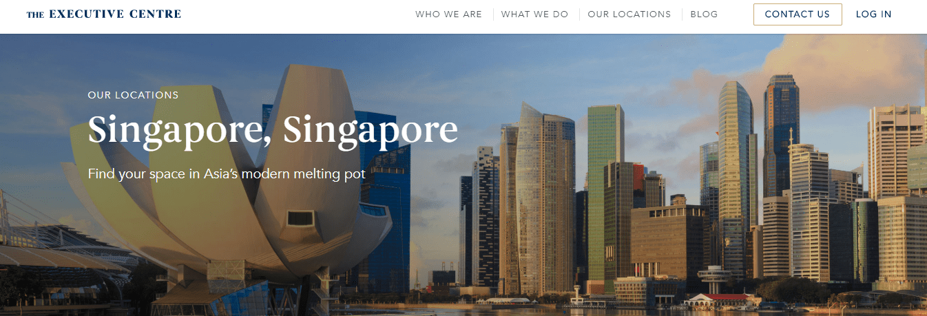 Executive Centre's Homepage