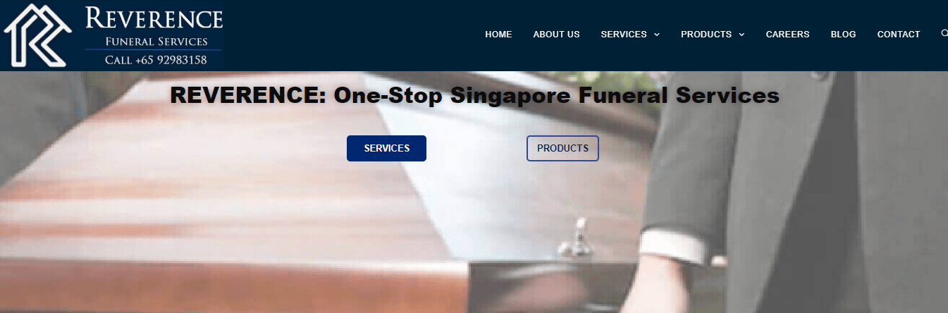 Reverence Funeral Services' Homepage