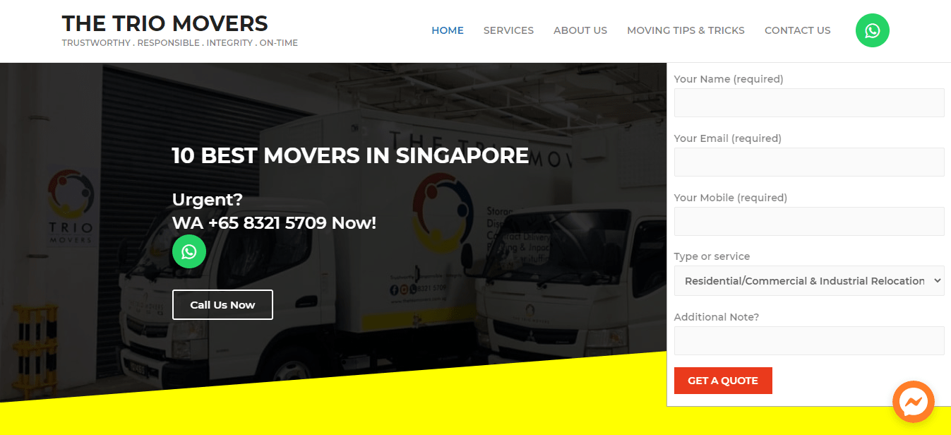 The Trio Movers' Homepage