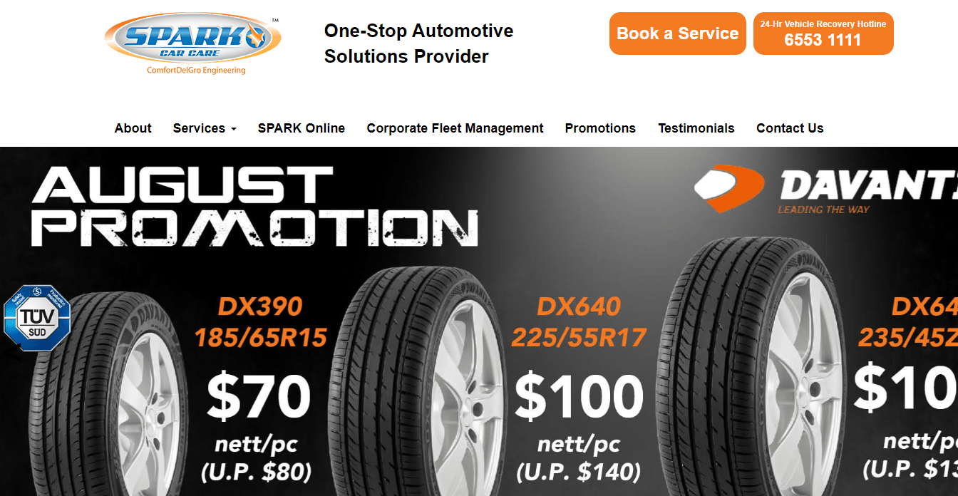 Spark Car Care's Homepage