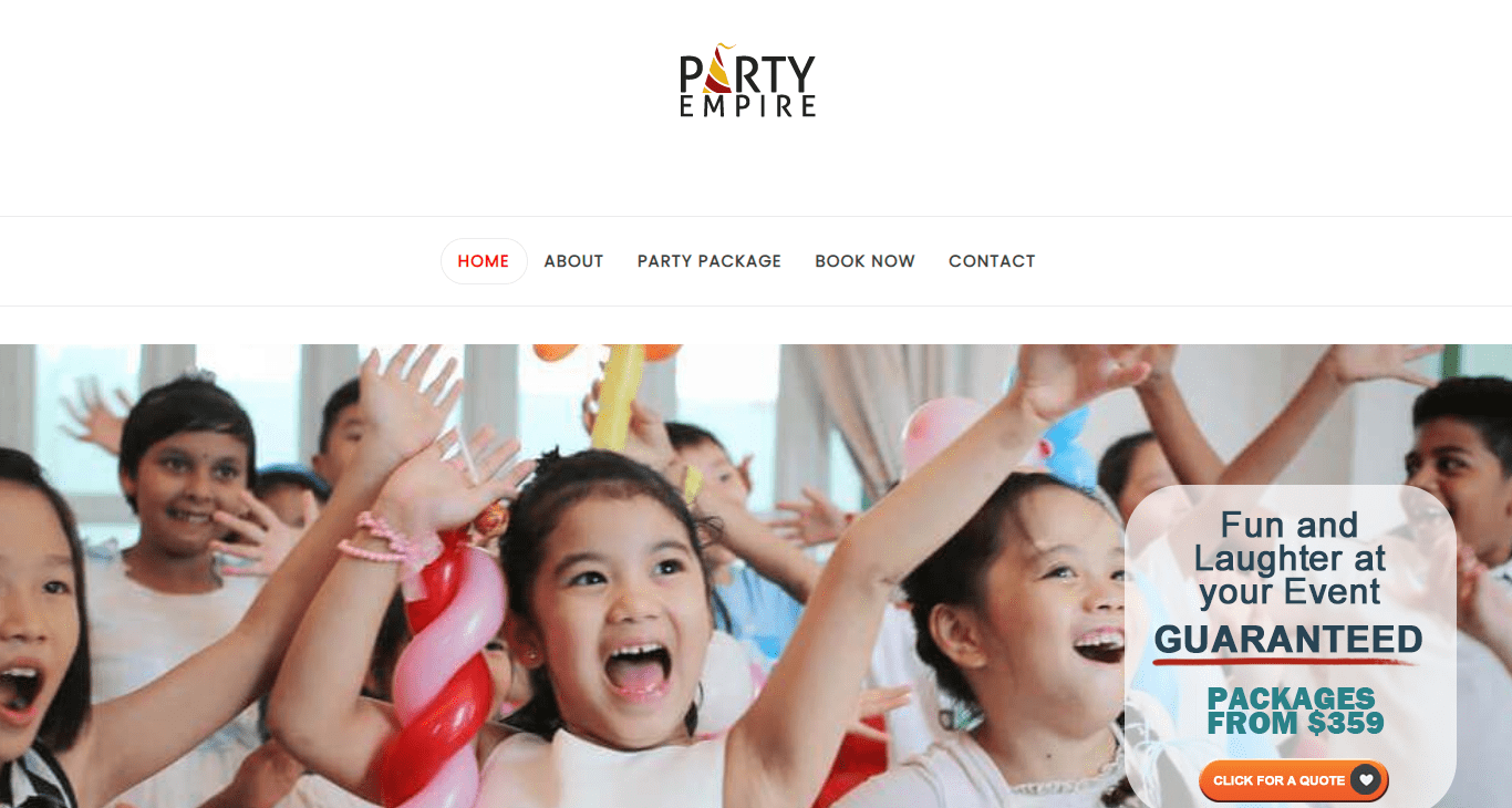 Party Empire's Homepage