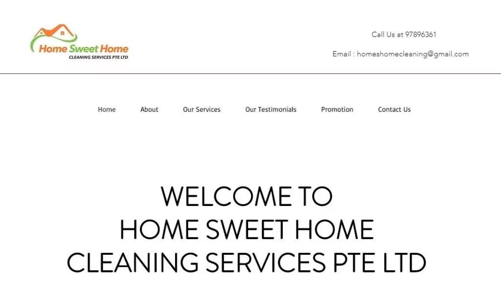 Home Sweet Home Cleaning Services' Homepage
