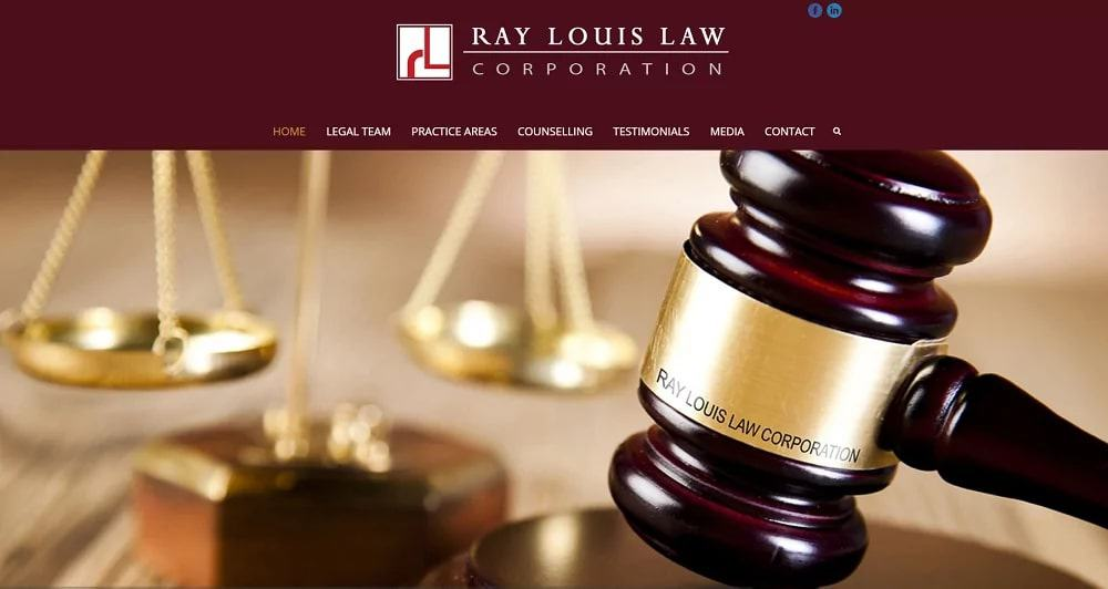 Ray Louis Law Corporation's Homepage