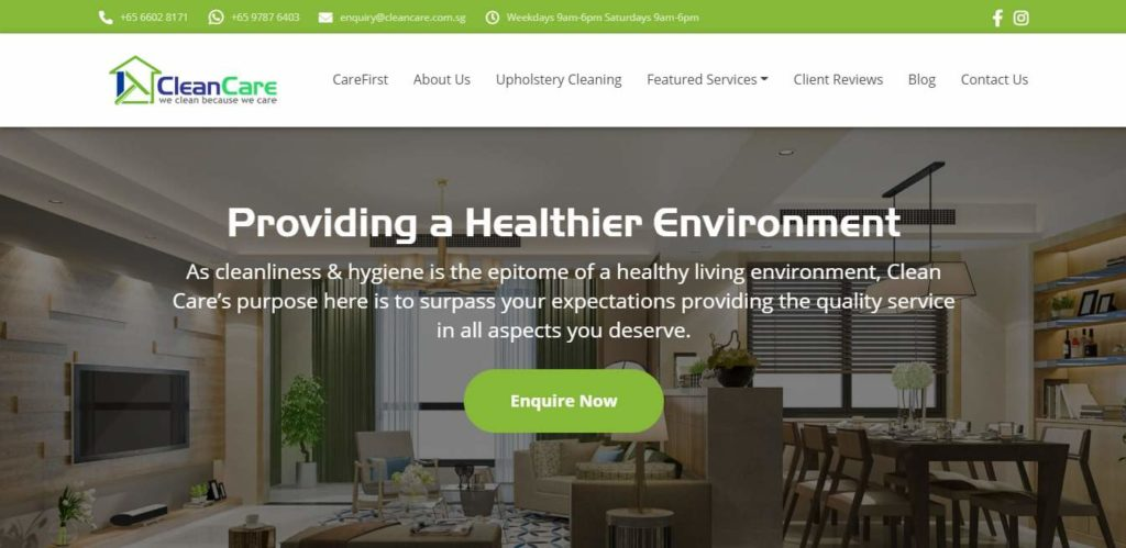 Clean Care's Homepage
